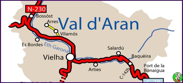 donde esta el valle de aran
